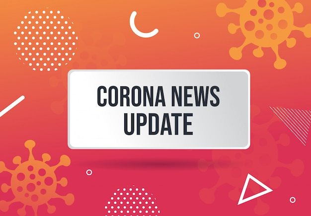 Coronavirus news update abstraktes hintergrunddesign