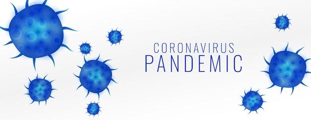 Coronavirus pandemie covid19 virus ausbruch banner design
