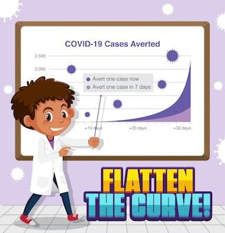 Coronavirus-plakatentwurf mit jungen- und covid 19 fällen