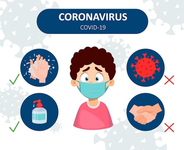 Coronavirus prävention. infografiken