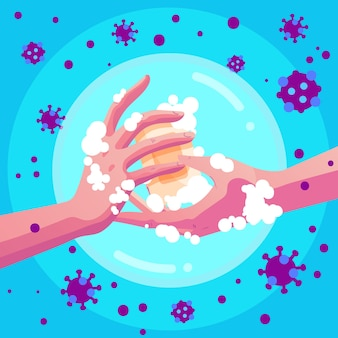 Coronavirus-präventionskonzept