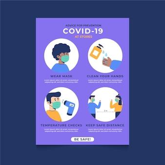 Coronavirus-präventionsschritte für geschäfte