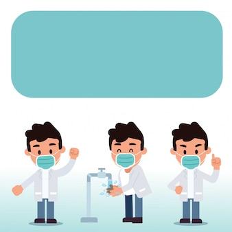 Coronavirus-präventionstipps von doctor