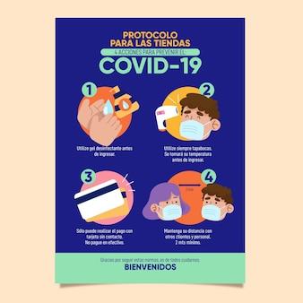 Coronavirus-protokoll für geschäftsplakate