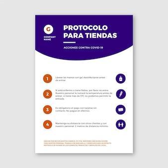 Coronavirus-protokolle für geschäftsplakate