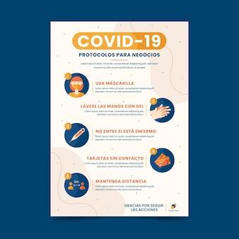 Coronavirus-protokolle für geschäftsverhandlungen