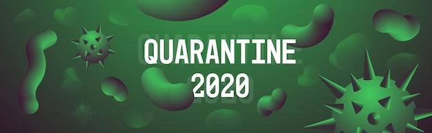 Coronavirus-quarantäne 2020-banner
