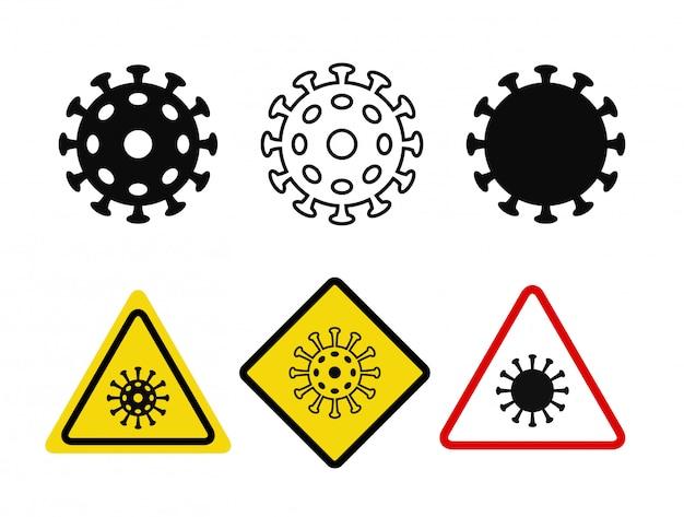 Coronavirus-symbole