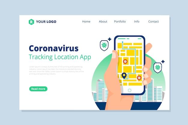 Coronavirus tracking location app - zielseite