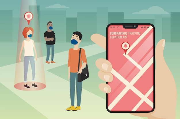Coronavirus tracking location app
