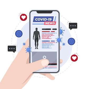 Coronavirus-update-konzept