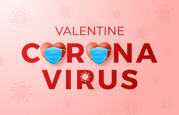 Coronavirus valentinstag konzept