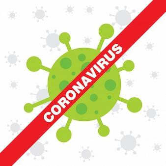Coronavirus-warnplakat. covid 19 zeichen.