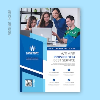 Corporate abstract flyer design