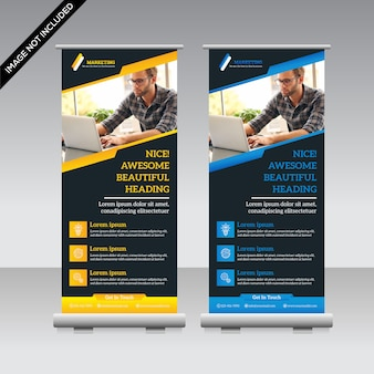 Corporate banner aufrollen