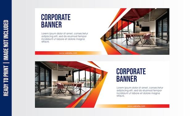 Corporate banner vorlage