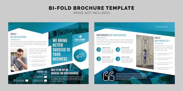 Corporate bi fold broschüren vorlage