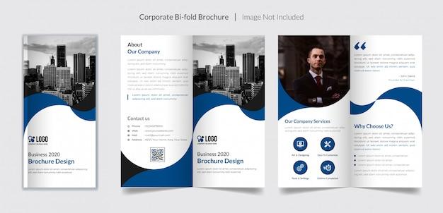 Corporate bifold broschüre vorlage
