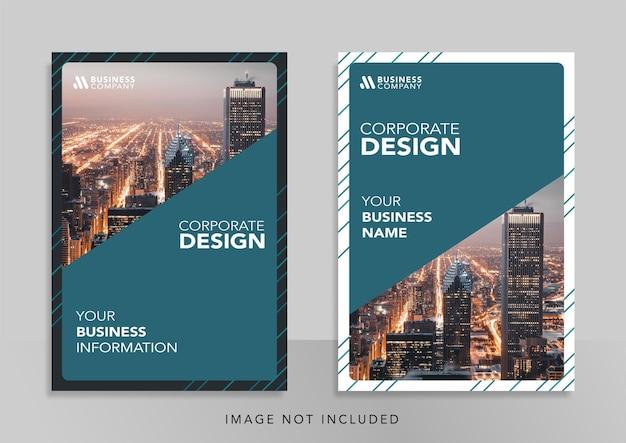 Corporate book cover design promotion template design banner für social media promotion