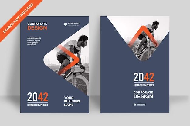 Corporate book cover design-vorlage in a4. kann an broschüre, geschäftsbericht, magazin, poster, geschäftspräsentation, portfolio, flyer, banner, website angepasst werden.