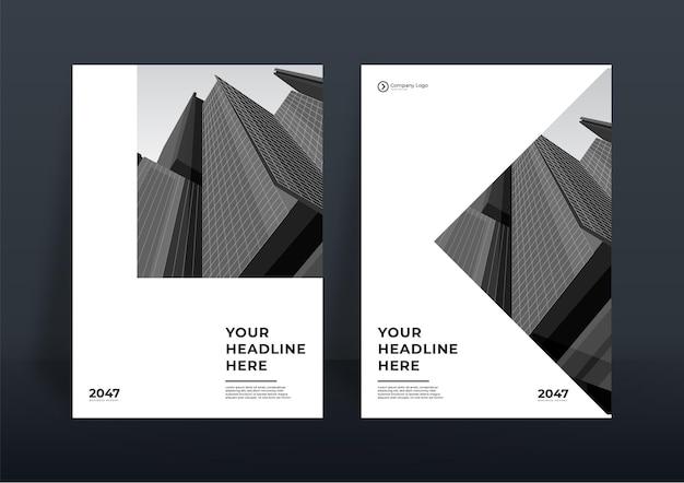 Corporate book cover design-vorlage oder flyer-vorlage hintergrund für business-design. moderne firmenprofilvorlage im a4-format