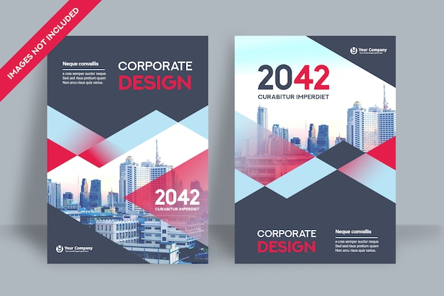 Corporate book cover design-vorlage.