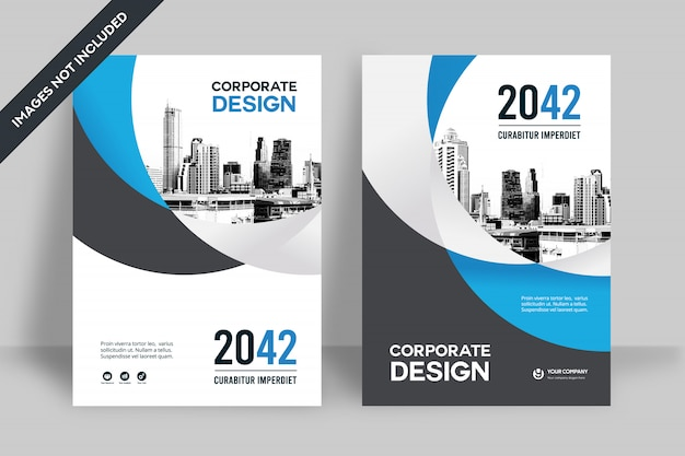 Corporate book cover design-vorlage