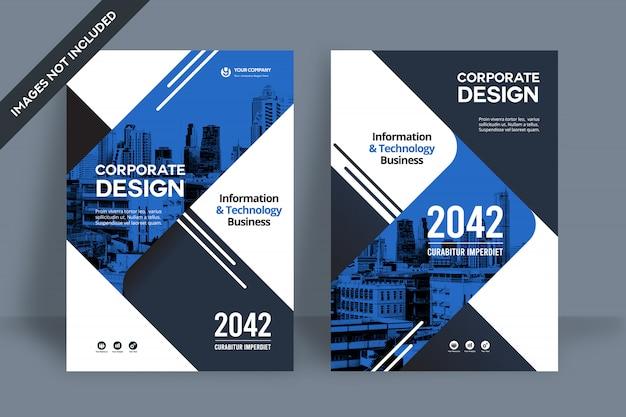 Corporate book cover design-vorlage