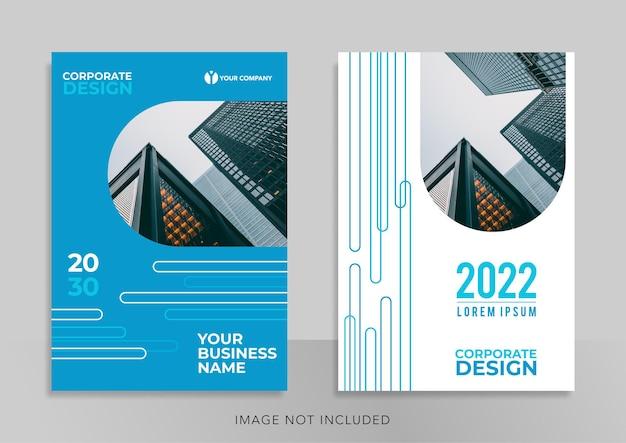 Corporate book cover template design banner für social media promotion
