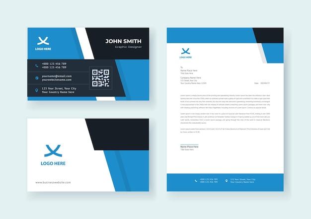 Corporate brand identity set premium-vektor
