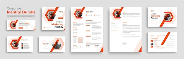 Corporate branding identity briefpapier design