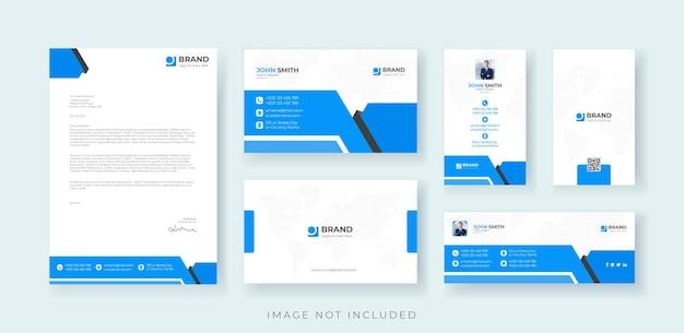Corporate branding identity set premium-vektor