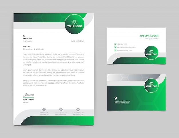 Corporate briefkopf design-vorlage