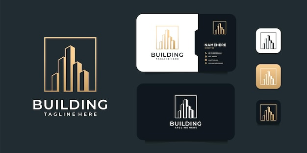 Corporate building immobilien logo design.