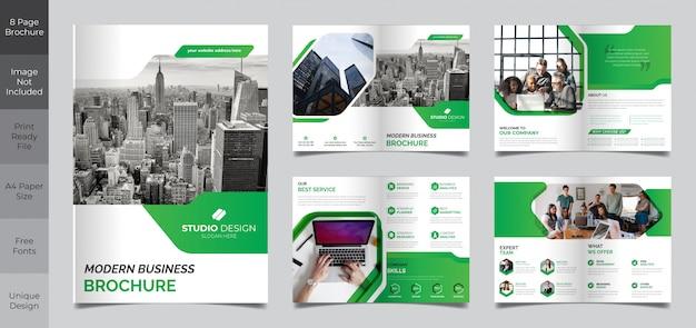 Corporate business 8-seitige broschürenvorlage