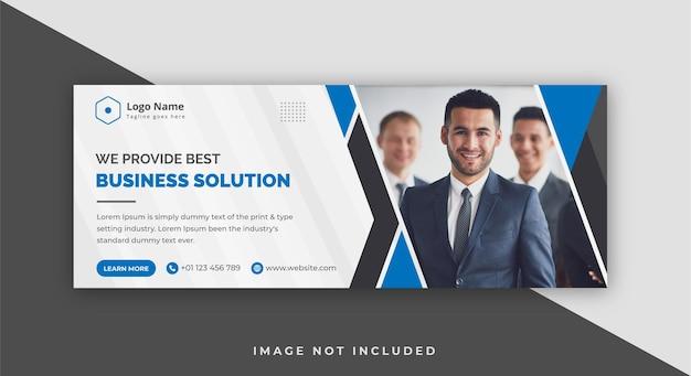 Corporate business agency facebook-cover-design-vorlage