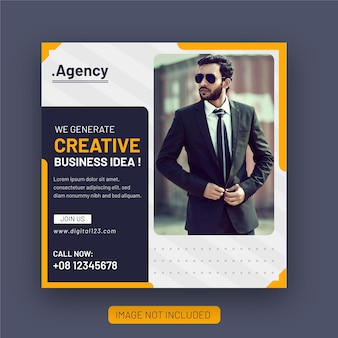 Corporate business agency und flyer square instagram social media post banner