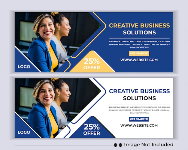 Corporate business agency web banner social media facebook cover vorlage.