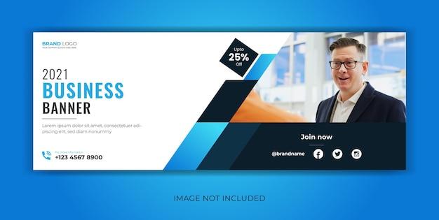 Corporate business banner für social media post