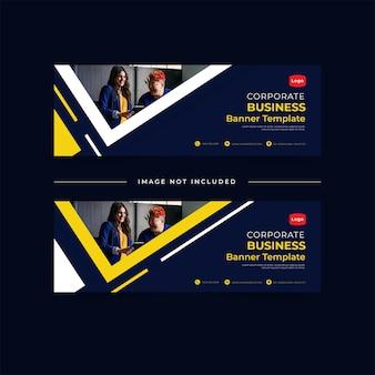 Corporate business banner konzept vorlage bundle