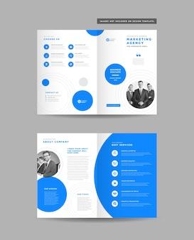 Corporate business bi-fold-broschürendesign