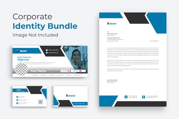 Corporate business brand identity design briefpapier