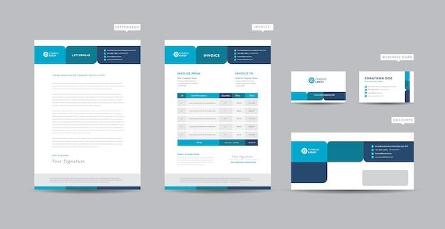 Corporate business branding identität, briefpapier design, dokumentendesign
