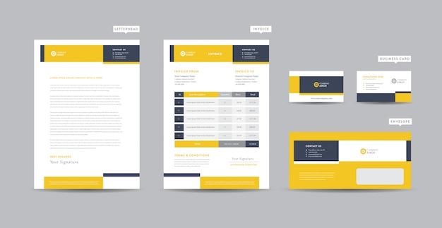 Corporate business branding identität   stationäres design   briefkopf   visitenkarte   rechnung   umschlag   startup design