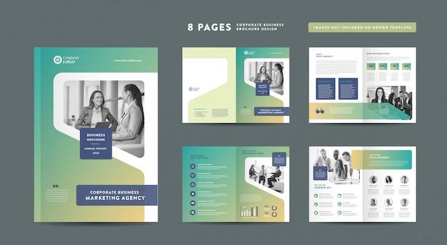 Corporate business broschüre design | geschäftsbericht und firmenprofil entwurfsvorlage für broschüren und kataloge