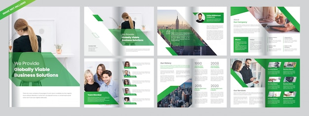 Corporate business broschüre vorlage