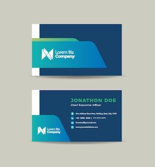 Corporate business card design oder visitenkarte und persönliche visitenkarte Premium Vektoren