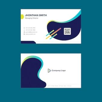 Corporate business card vorlage