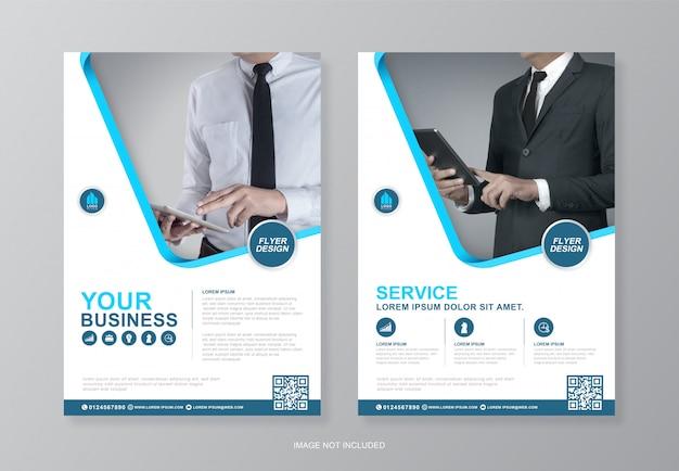 Corporate business cover und rückseite a4 flyer design-vorlage für den druck