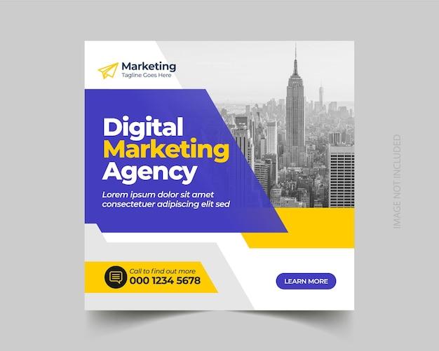 Corporate business digital marketing social media instagram post vorlage